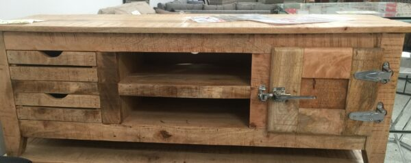 TV Cabinet in solid mango wood