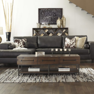 double chaise leather lounge