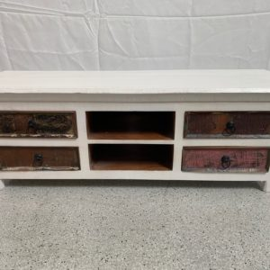 white timber tv cabinet