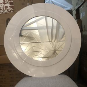 white mirror in round shape