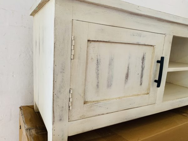 white washed tv cabinet