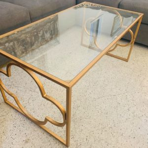 Gold Framed Coffee Table
