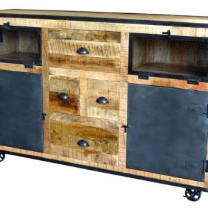 industrial timber sideboard buffet